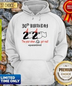 30th Birthday 2020 The Year When Shit Got Real Quarantined COVID-19 Hoodie