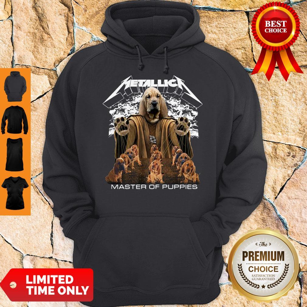 Premium Metallica Basset Hound Master Of Puppies Hoodie
