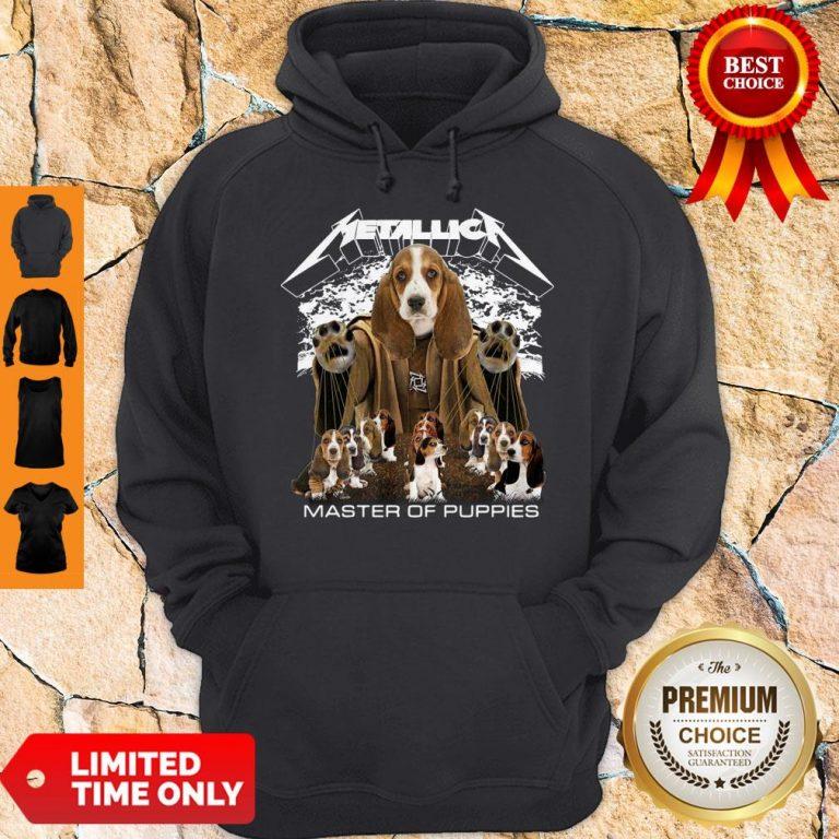 Official Metallica Basset Hound Puppy Master Of Puppies Hoodie
