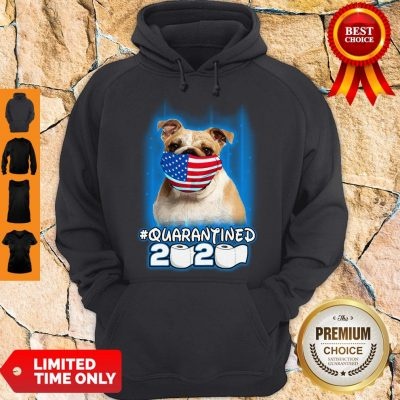 Nice Pug Face Mask American Flag Quarantined 2020 Toilet Paper Hoodie