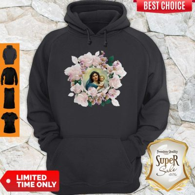 Official Blessed Mother Mary And Jesus Flowers Hoodie