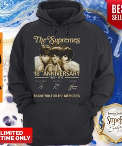 The Supremes 18th Anniversary 1959-1977 All Signature Hoodie