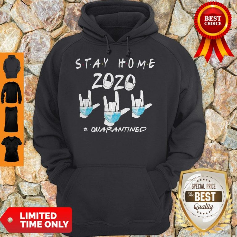 Rock Hand Sign Stay Home 2020 Quarantined COVID-19 Hoodie