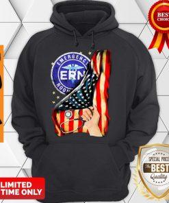 Official Emergency Room And American Flag Hoodie