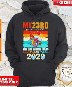 Top My 23rd Birthday The One Where I Was Quarantined 2020 Mask Vintage Hoodie