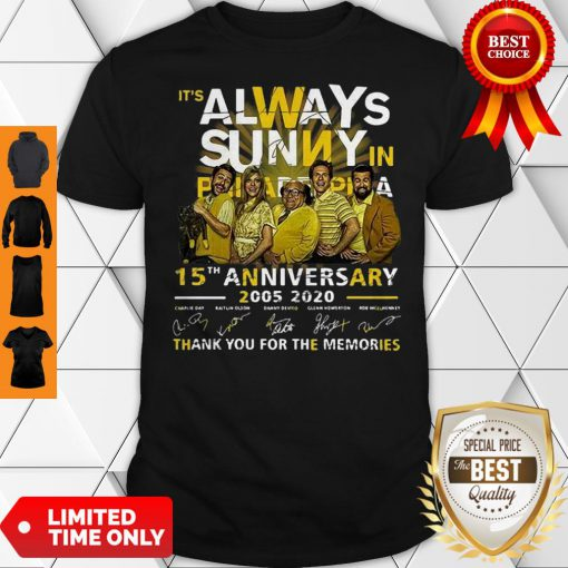 It's Always Sunny In Philadelphia 15th Anniversary Signatures Shirt