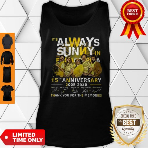 It's Always Sunny In Philadelphia 15th Anniversary Signatures Tank Top