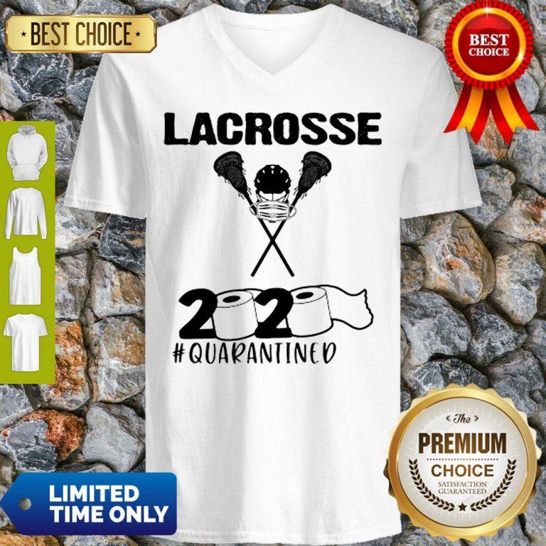 Lacrosse 2020 Face Mask #Quarantined COVID-19 V-neck