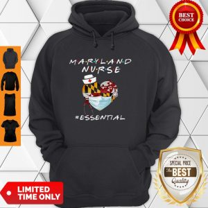 Maryland Nurse Heart Stethoscope #Esential Hoodie