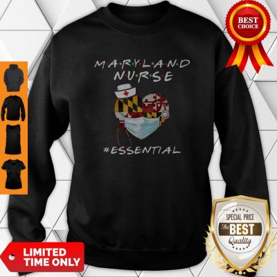 Maryland Nurse Heart Stethoscope #Esential Sweatshirt
