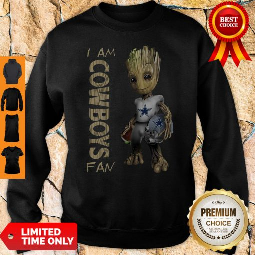 Official Baby Groot I Am Dallas Cowboys Sweatshirt