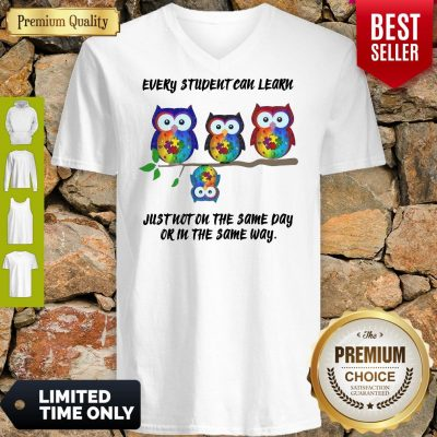 Owls Every Student Can Learn Just Not On The Same V-neck