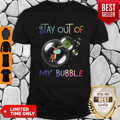 Pretty Reindeer Stay Out Of My Bubble Coronavirus T-Shirt