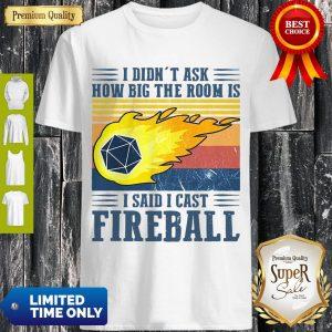 Nice I Didn't Ask How Big The Room Is I Said I Cast Fireball T-Shirt