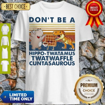 Good Don't Be A Hippo Twatamus Twatwaffle Cuntasaurous Cake Vintage Shirt