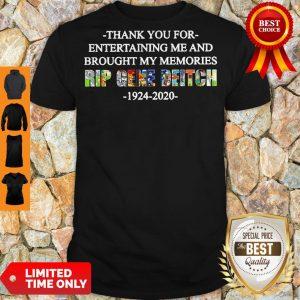 Top Rip Gene Deitch Thank You For Entertaining Me 1924 2020 Shirt