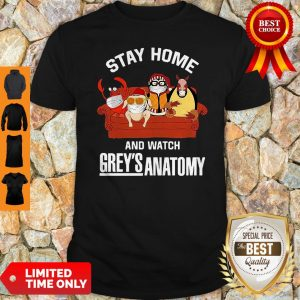 Hugsy Penguin And Friends Stay Home And Watch Grey's Anatomy Shirt