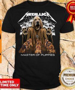 Premium Metallica Basset Hound Master Of Puppies Shirt