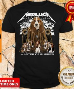Official Metallica Basset Hound Puppy Master Of Puppies Shirt