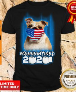 Nice Pug Face Mask American Flag Quarantined 2020 Toilet Paper Shirt