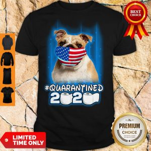 Nice Pug Face Mask American Flag Quarantined 2020 Toilet Paper Shirt