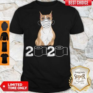 Funny Staffordshire Bull Terrier Mask 2020 Toilet Paper Shirt