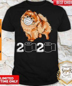 Premium Pomeranian Mask 2020 Toilet Paper Shirt