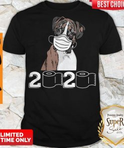 Top Boxer Dog Mask 2020 Toilet Paper Shirt