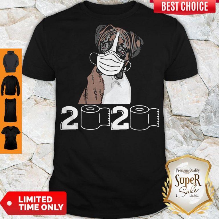 Top Boxer Dog Mask 2020 Toilet Paper Shirt