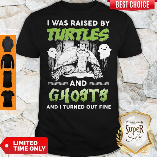 Top I Was Raised By Turtles And Ghosts And I Turned Out Fine Shirt
