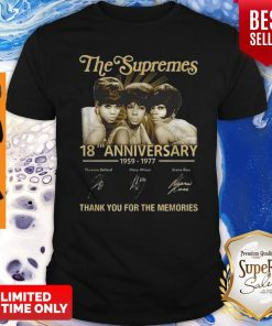 The Supremes 18th Anniversary 1959-1977 All Signature Shirt