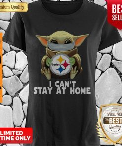 Baby Yoda Face Mask Hug Pittsburgh Steelers I Can't Stay At Home Shirt