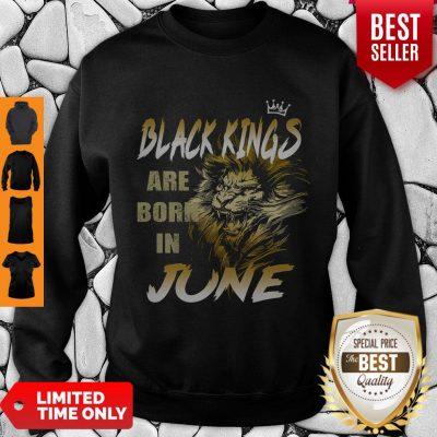 Good Lion Black Kings Are Born In June Sweatshirt