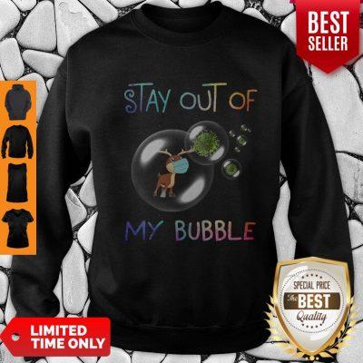 Pretty Reindeer Stay Out Of My Bubble Coronavirus Sweatshirt