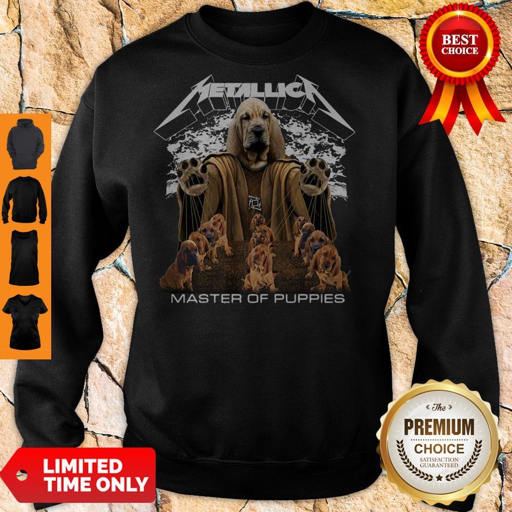 Premium Metallica Basset Hound Master Of Puppies Sweatshirt