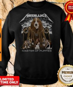 Official Metallica Basset Hound Puppy Master Of Puppies Sweatshirt