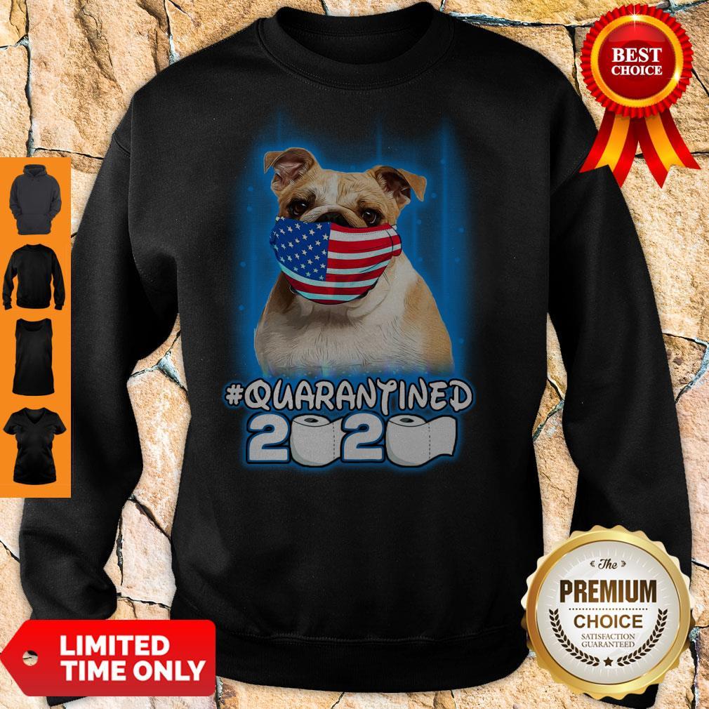 Nice Pug Face Mask American Flag Quarantined 2020 Toilet Paper Sweatshirt