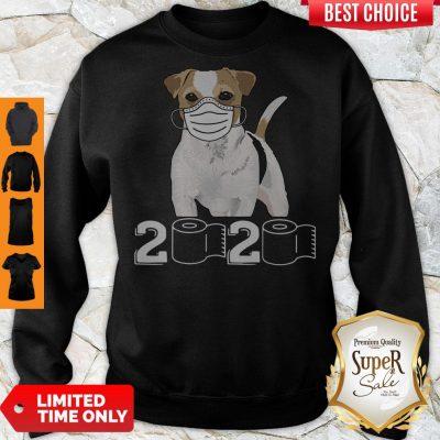 Premium Jack Russell Mask 2020 Toilet Paper Sweatshirt