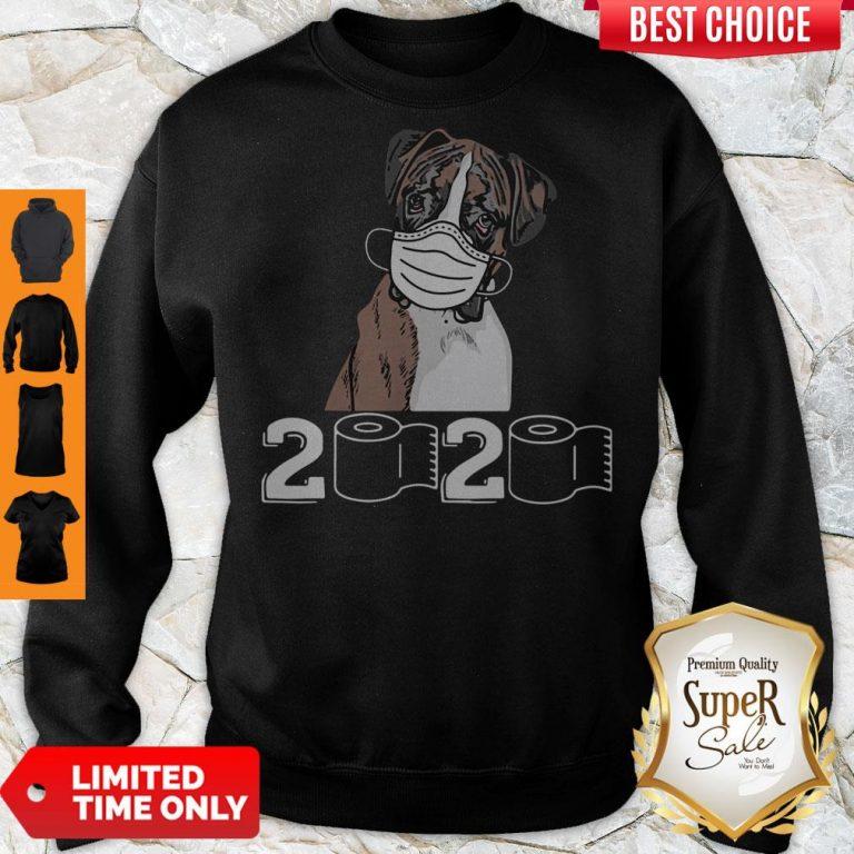 Top Boxer Dog Mask 2020 Toilet Paper Sweatshirt