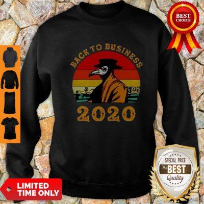 Plague Doctor Back To Business 2020 Vintage Sweatshirt