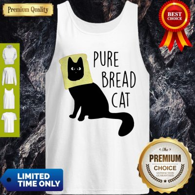 Top Pure Bread Cat Funny Tank Top