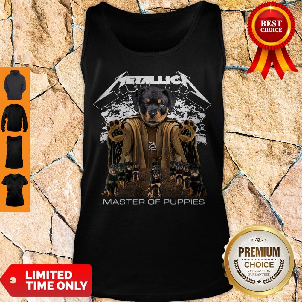 Top Metallica Austrian Black Master Of Puppies Tank Top