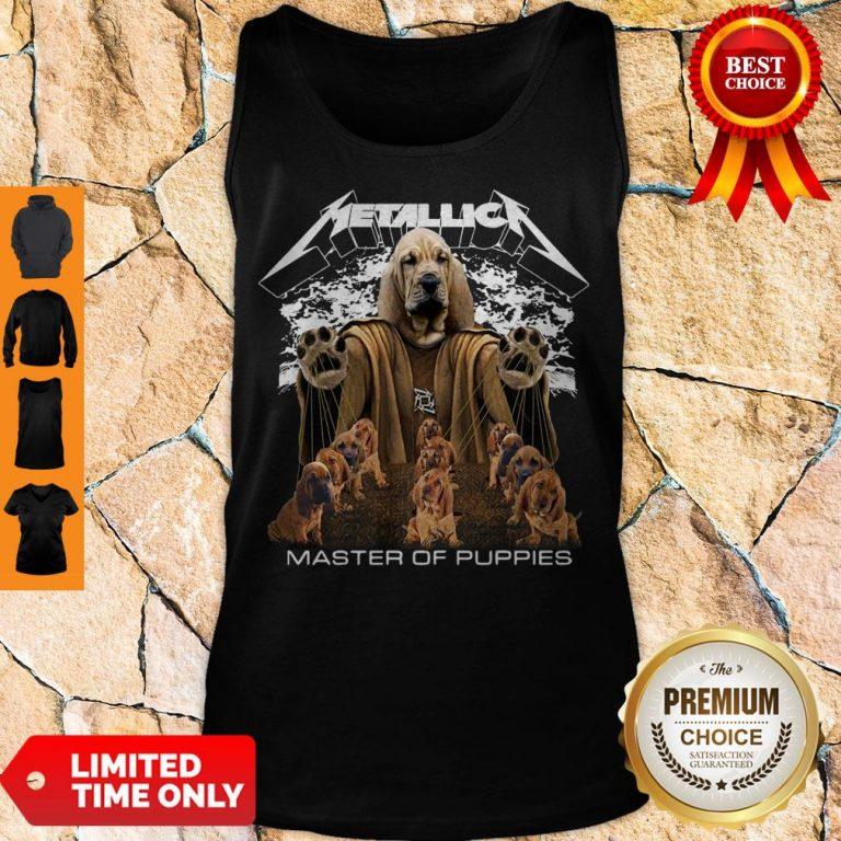 Premium Metallica Basset Hound Master Of Puppies Tank Top