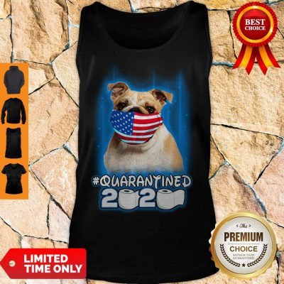 Nice Pug Face Mask American Flag Quarantined 2020 Toilet Paper Tank Top