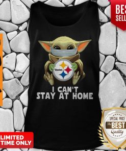 Baby Yoda Face Mask Hug Pittsburgh Steelers I Can't Stay At Home Tank Top