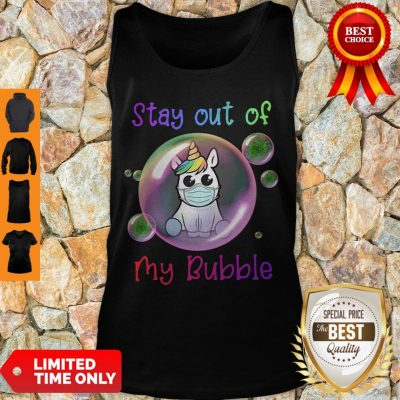 Premium Cute Stay 6ft Away From My Bubble Unicorn Tank Top