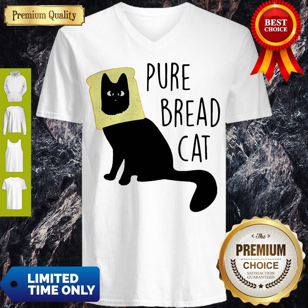 Top Pure Bread Cat Funny V-neck