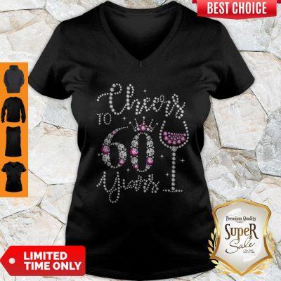 Premium Cheers To 60 Year V-neck