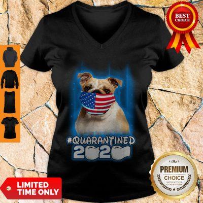 Nice Pug Face Mask American Flag Quarantined 2020 Toilet Paper V-neck