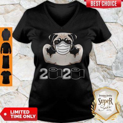 Nice Pug Dog Strong Mask 2020 Toilet Paper V-neck
